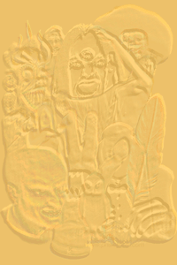 Embossed version of Fangers' front cover, prepared by Jim McPherson, 2011
