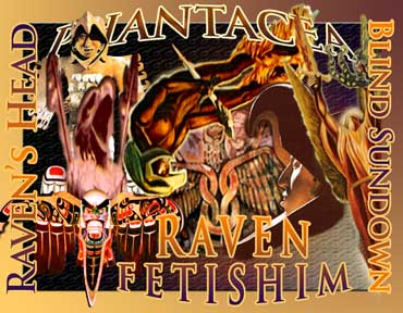 The Raven Fetishim collage, prepared by Jim McPherson, using pictures mostly taken in Mexcio, 2007
