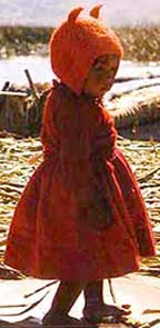 A child  from Lake Titicaca in Peru taken from the Web, reminiscent of Tralalorn