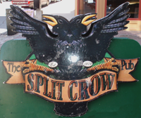 Shot of the Split Crow pub sign, taken by Jim McPherson in Halifax, 2009