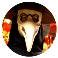 Cameo of a Venice Plague Doctor, shot by Jim McPherson, 2008