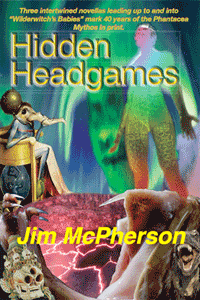 Front cover for Hidden Headgames, collage prepared by Jim McPherson, 2017