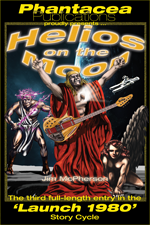 Helios on the Moon, artwork by Richard Sandoval, 1978; variation by Jim McPherson, 2013