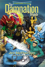 Front cover for Damnation Brigade graphic novel, art by Ian Bateson, touch up by Chris Chuckry, 2012